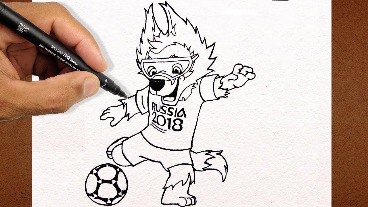 Como Desenhar O Zabivaka Mascote Da Copa Russia 2018 Youtube