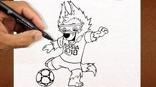 Como Desenhar o Zabivaka Mascote Da Copa Rússia 2018