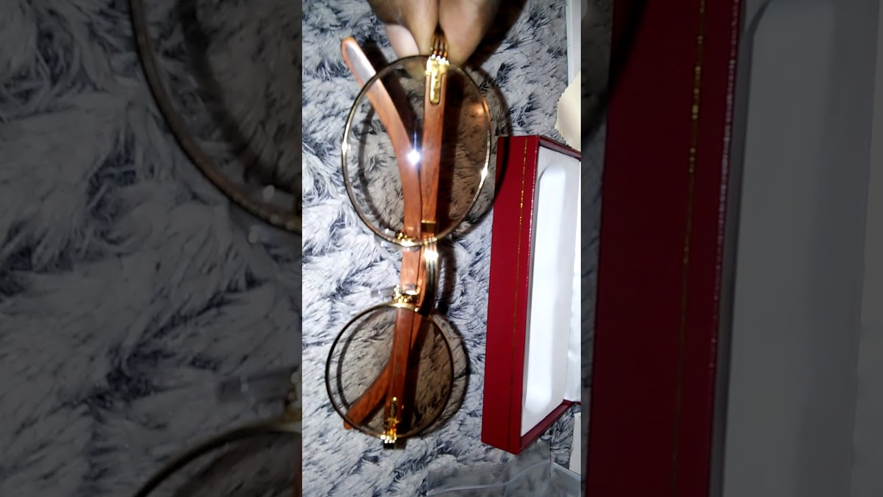 825087025d Cartier glasses unboxing (rough draft) - YouTube