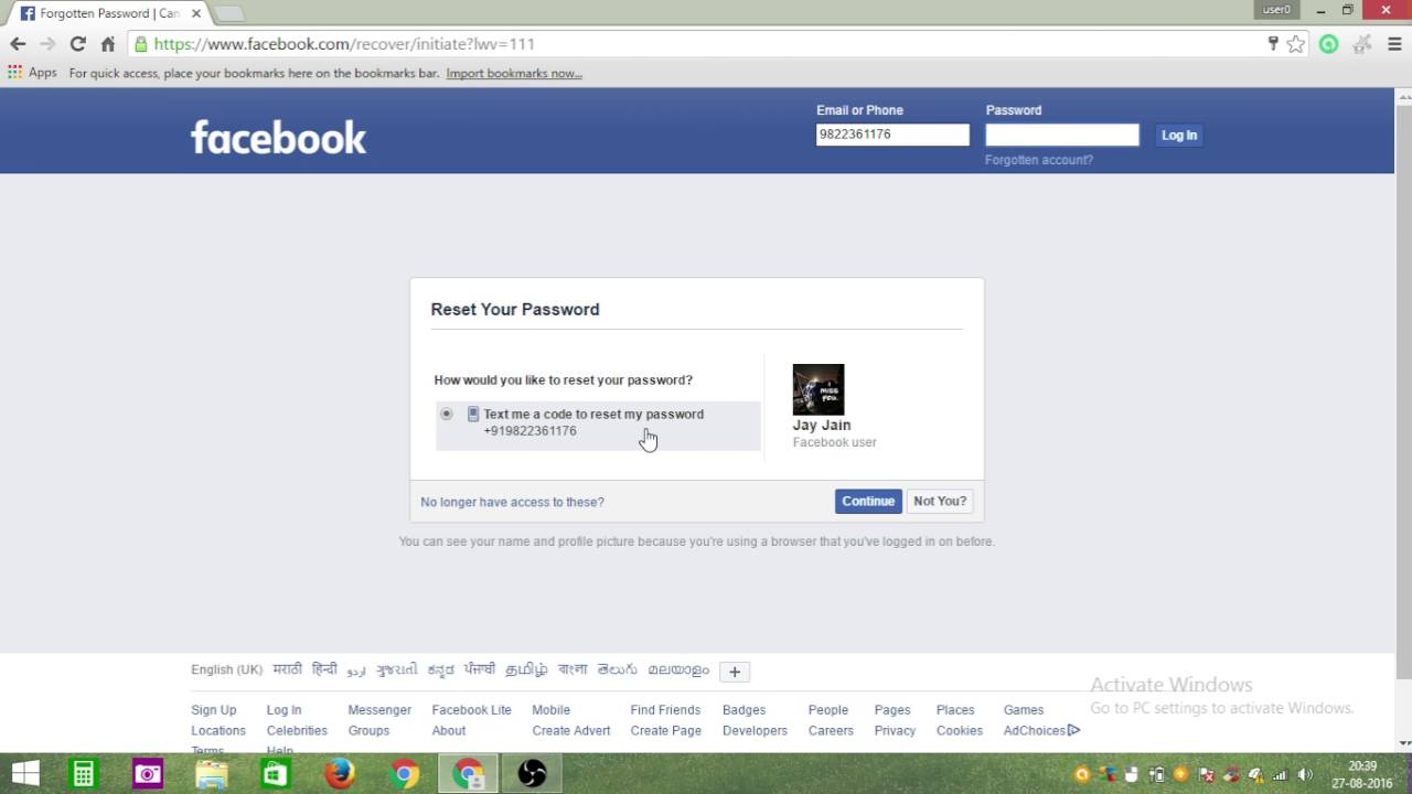 www facebook com forgot password