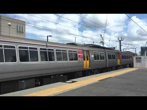 QR trains at South Brisbane