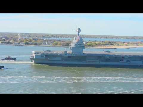 US Navy - USS Gerald R. Ford (CVN 78) Nuclear Aircraft Carrier Delivered [1080p60]