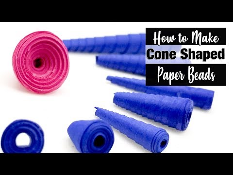 How to Make Cone Shaped Paper Beads