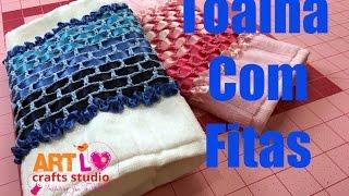 Toalha Com Fitas Passo a Passo – Tutorial Ribbons Hand Towel