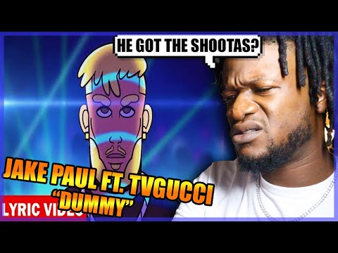 Jake Paul - DUMMY ft. TVGUCCI (Official Lyric Video) REACTION