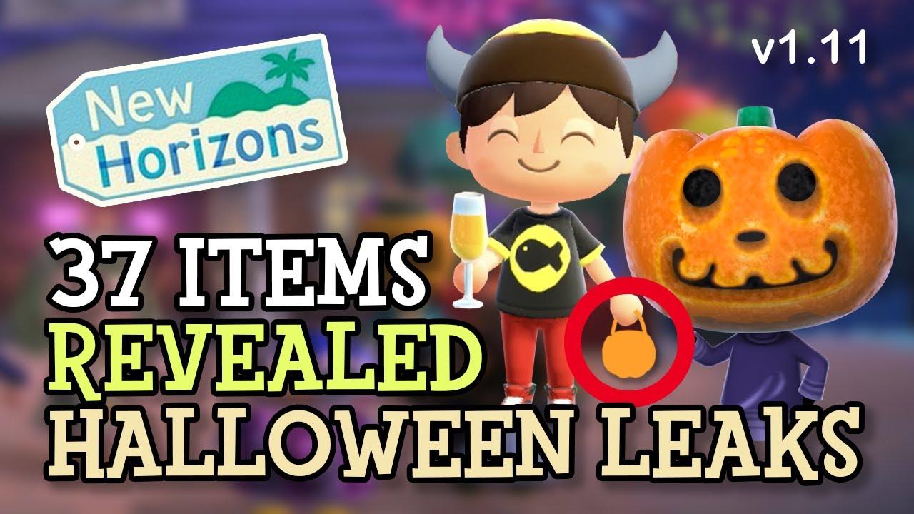 Animal Crossing New Horizons: HALLOWEEN LEAKS & 37 NEW ITEMS REVEALED (1.11 August Update) Data-Mine