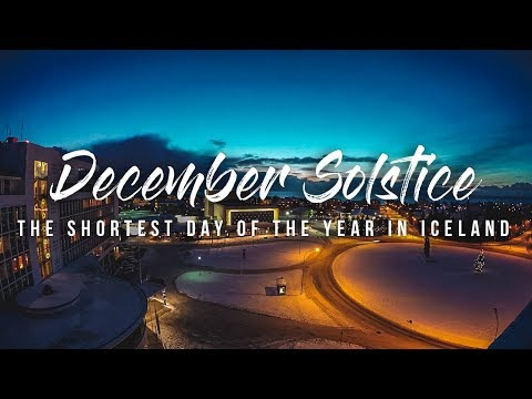 ONLY 4 Hrs of Daylight = The Shortest Day of the Year in ICELAND!! 🌛