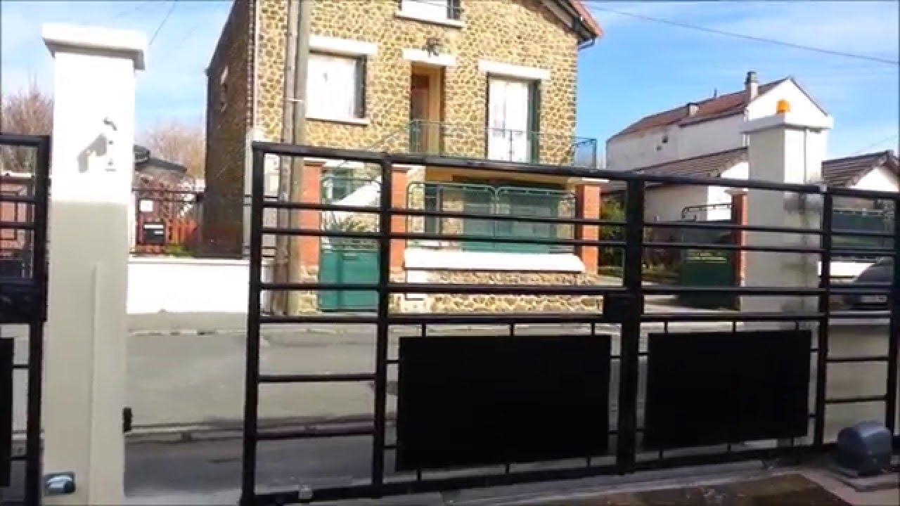 transformer portail battant en coulissant et motoriser youtube. Black Bedroom Furniture Sets. Home Design Ideas