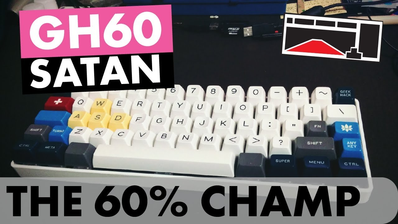 [Keyboards] GH60 Satan - I Built a 60% Mechanical Keyboard