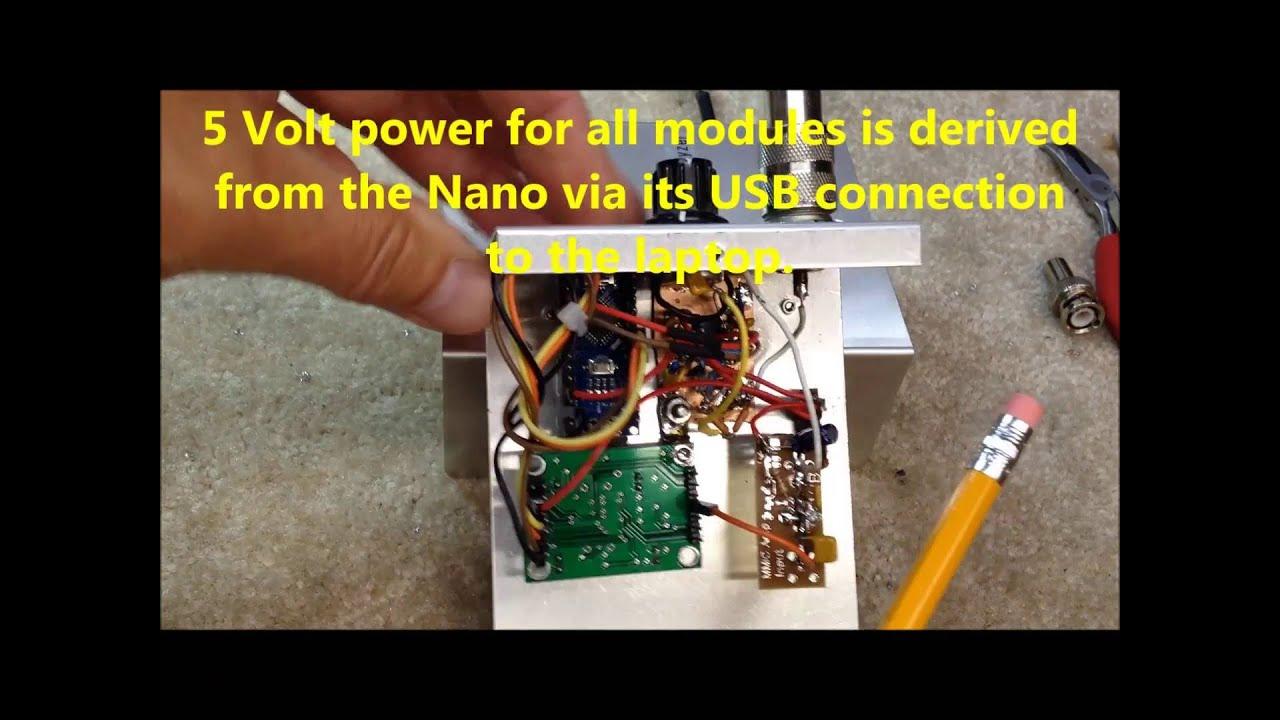 Homebrew Arduino/ AD9850 Antenna Analyzer-Sweeper K6BEZ's