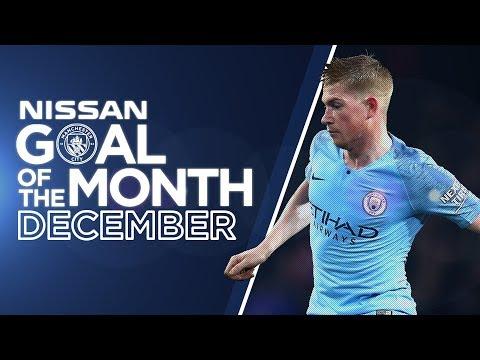DECEMBER GOAL OF THE MONTH 18/19 | Stanway, Mahrez, Sane & KDB