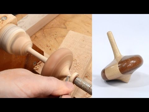 Making a spinning top on the lathe