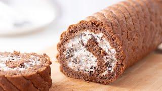 チョコレート・ロールケーキの作り方 Chocolate Cake Roll Recipe|HidaMari Cooking