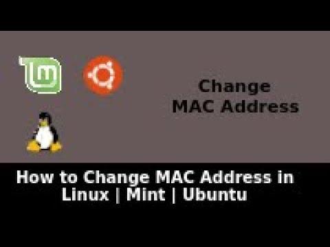 how to change mac address linux mint