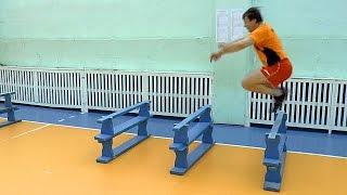 Как увеличить высоту прыжка. Обучение волейболу.