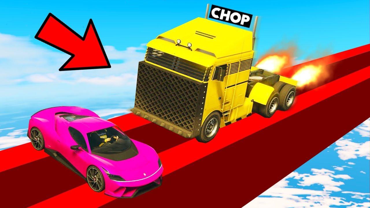 CHOP TROLLED ME USING TRUCK CHEATS IN GTA 5