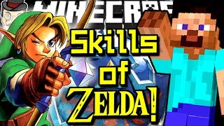Minecraft ZELDA SKILLS! Hyrule Items, Masks, Secrets, Navi & More!