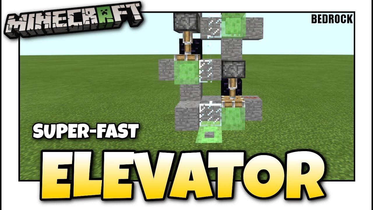 Minecraft Bedrock Elevator Super Fast Redstone