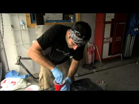 Herm Narciso, Dime City Cycles - Makes a Fiberglass Cafe Racer Seat! - Part 2