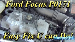 Ford Focus P0171 Easy Fix YOU can Do