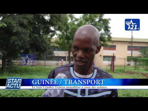 GUINEE / TRANSPORT : le train Conakry Express immobilisé à cause des ordures