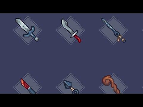 [Pixel Art] RPG Weapons Timelapse