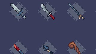[Pixel Art] RPG Weapons Timelapse