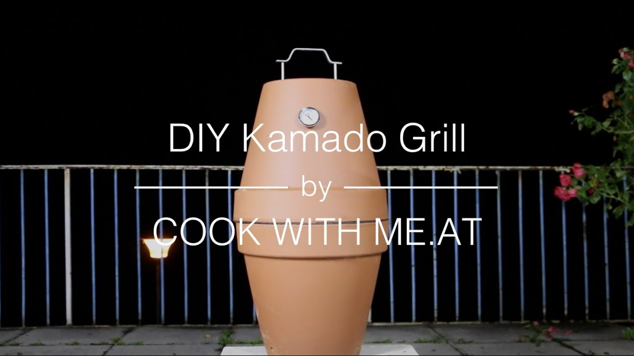 Homemade Flower Pots Diy Kamado Grill Flowerpot Smoker Galileo Cook With Me