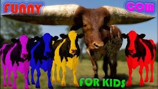 МУЛЬТФИЛЬМ РАЗНОЦВЕТНЫЕ БЫКИ Бой быков Волшебный кинетический песок Учим цвета на английском детям