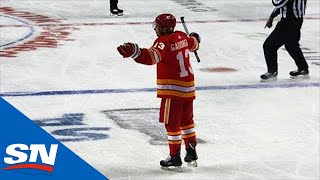 Johnny Gaudreau Can't Catch A Break After Goalie Interference Call Against Flames