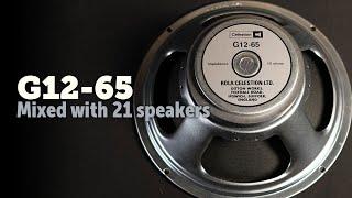 Celestion G12-65. 21 speakers Shootout