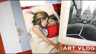 ART VLOG: Как выбрать Раму? Эскизы, Мои новые Работы
