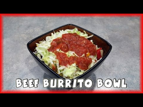 How to make a burrito bowl with ground beef
