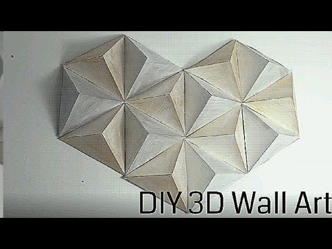 Easy DIY 3D Wall Decor   DIY Cardboard Crafts   How to make Paper Pyramid   Wall Art with Origami