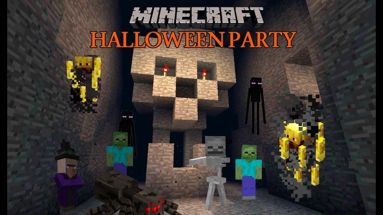 Minecraft Halloween Party 2012 - YouTube