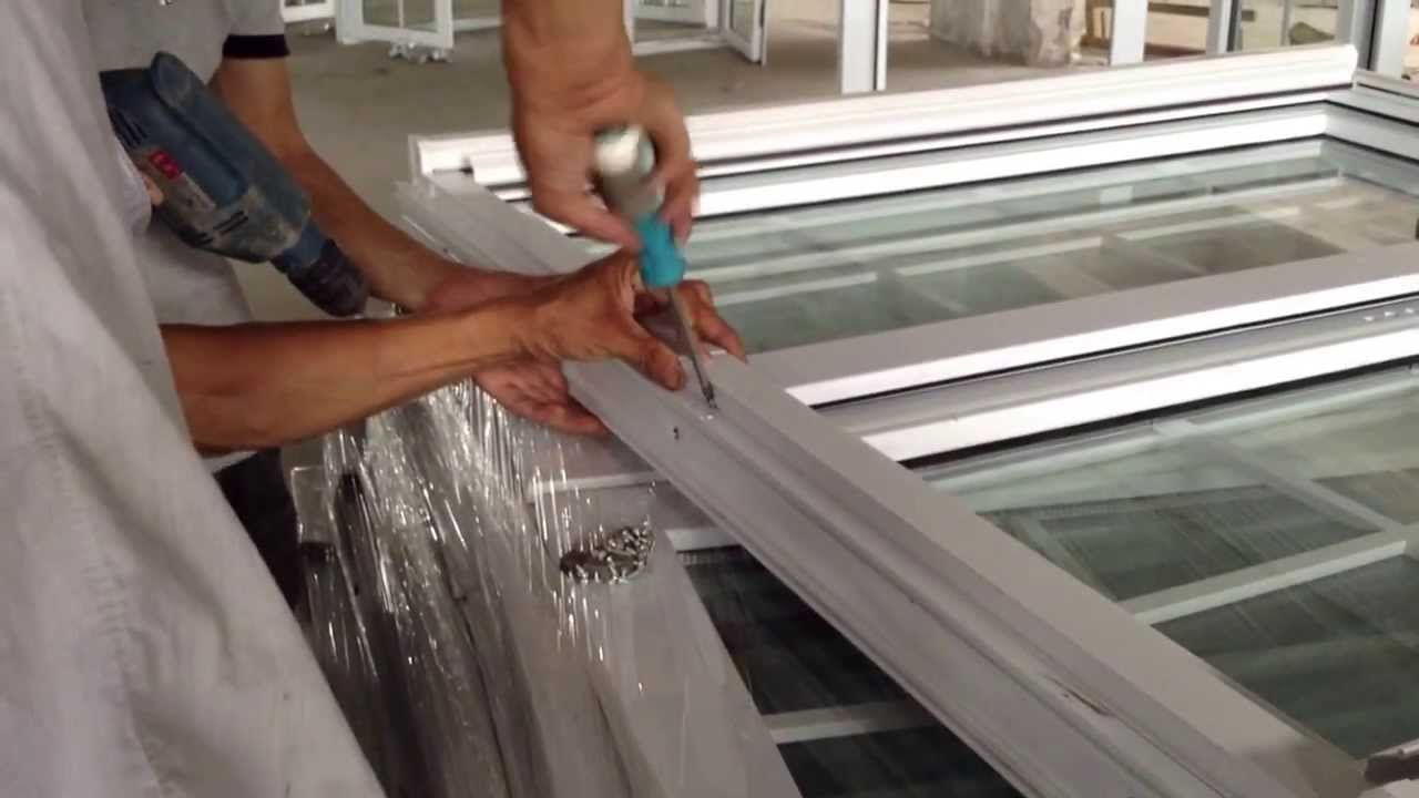 How to install screen on casement window youtube for Installing casement windows