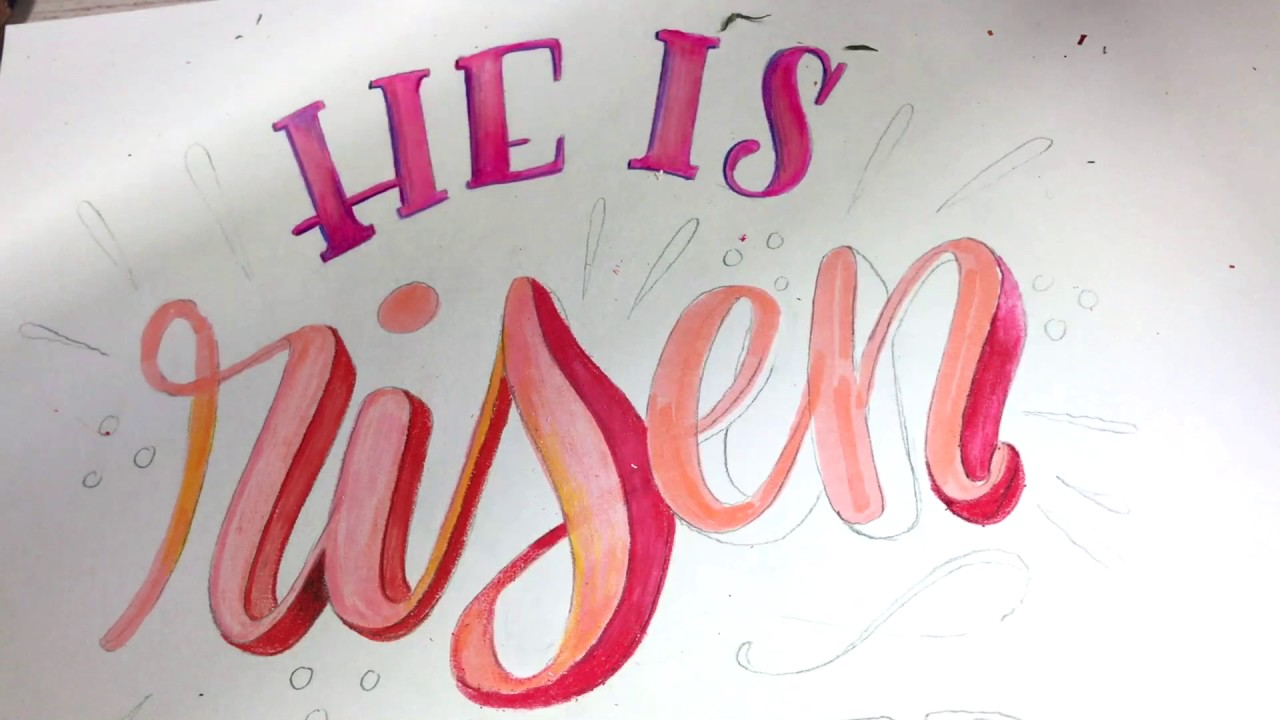 Hand-Lettering, Color-Pencil Shading (short) - YouTube