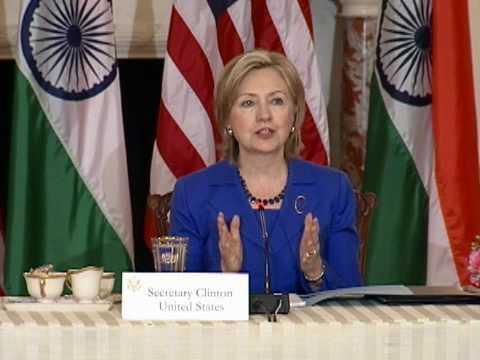 Secretary Clinton Addresses U.S.-India Strategic Dialogue Plenary Session