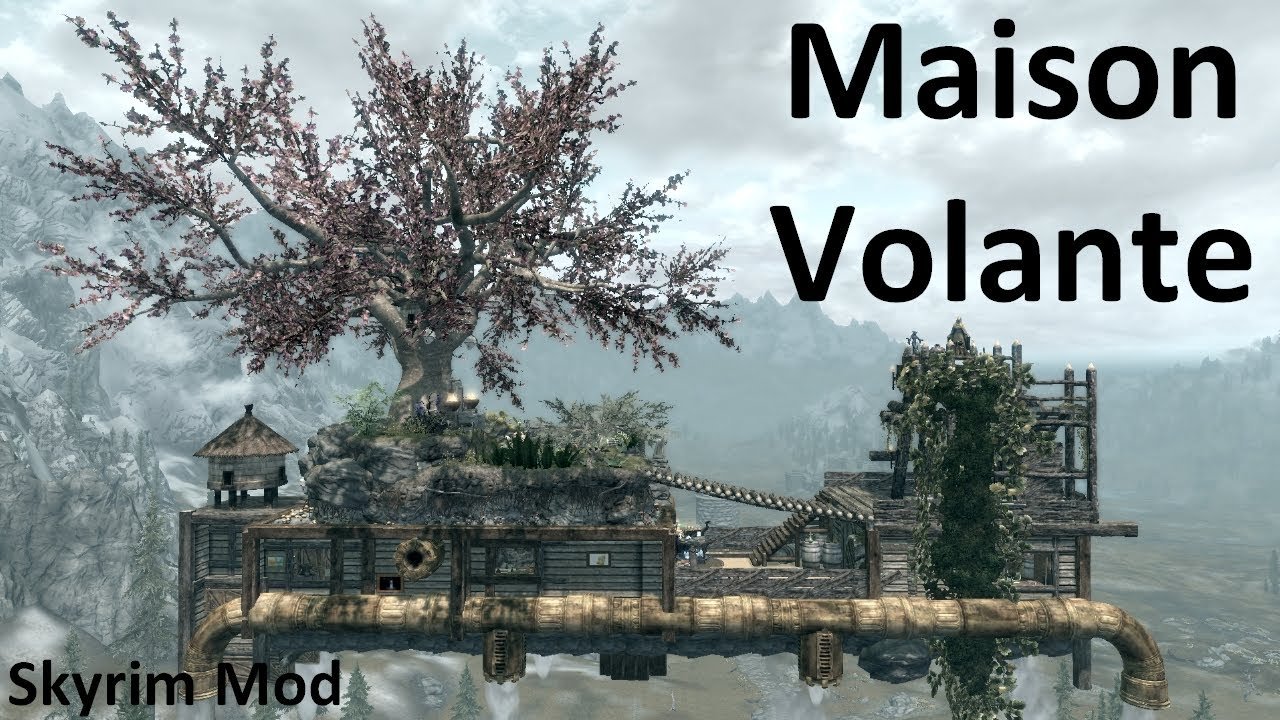 skyrim mod fr avoir une maison volante flying home. Black Bedroom Furniture Sets. Home Design Ideas