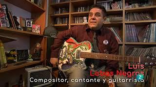 """LUIS LOBO NEGRO - GUITARRA CERÁMICA MODELO TEX MEX - PROGRAMA """"LA AVENTURA DEL SABER"""" (La2/TVE)"""