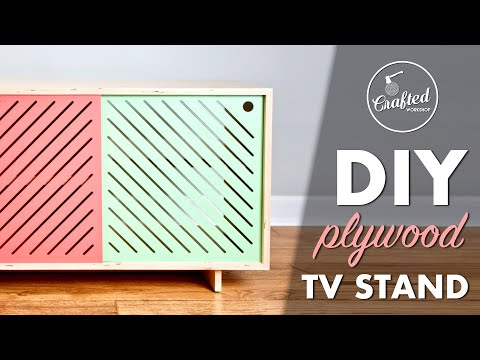 DIY Modern Plywood TV Stand or Media Console // How To - Woodworking