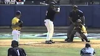 Prince Fielder of Florida Air Academy hits an rbi single in 1999 FHSAA 3A Championship