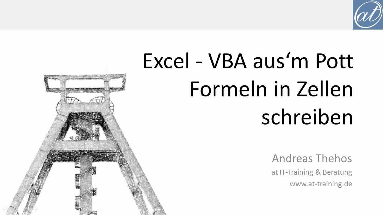 Excel Name Arbeitsblatt In Zelle Einfügen : Excel vba formel in zelle schreiben text