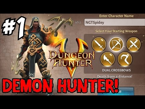 ★ DUNGEON HUNTER 5 ★ Diablo 3 On Mobile? [1] (Let's Play / Walkthrough)