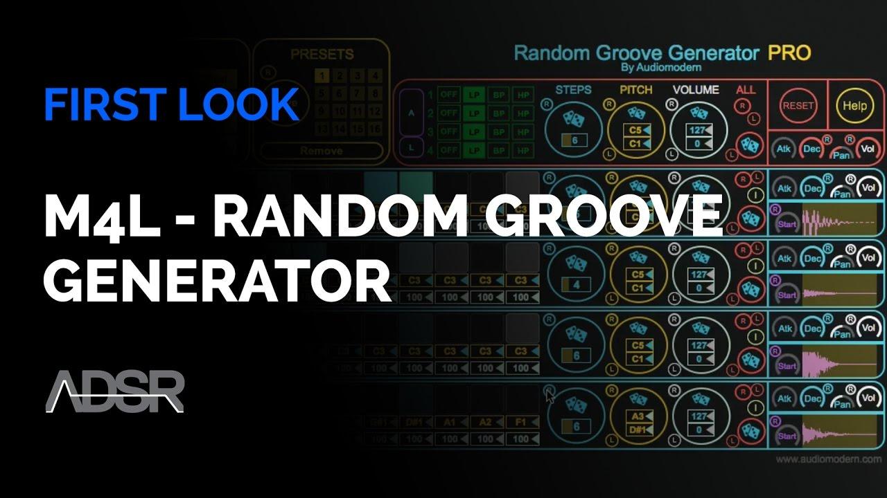 JRRshop com | Audiomodern Random Groove Generator Pro