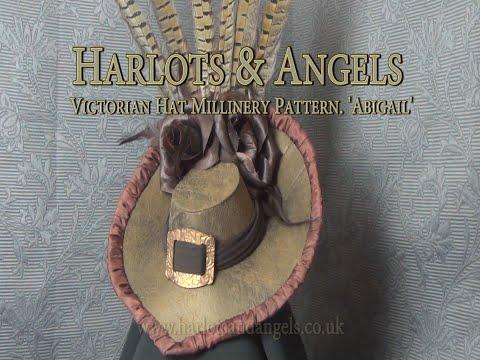 Harlots & Angels Stunning Victorian Hat 'Abigail' pattern