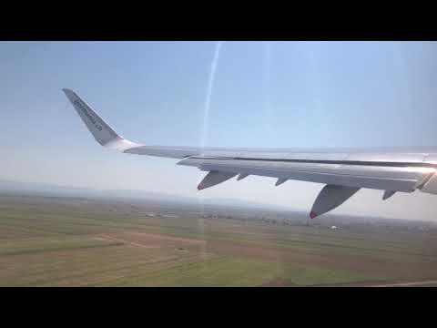*NICE WING VIEW* Germania Flug Airbus A321 Sharklets Take off from pristina