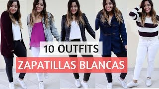 10 OUTFITS CON ZAPATILLAS BLANCAS | OUTFITS CLASES/CASUALES - OUTFITS GAMARRA