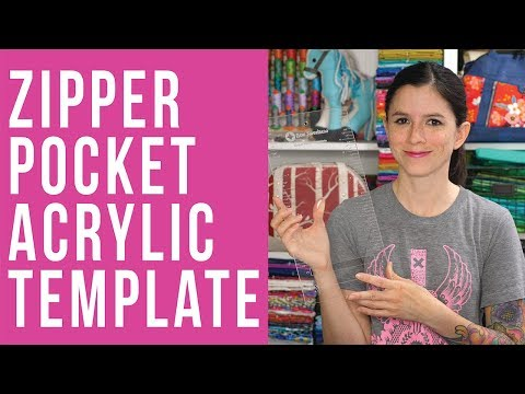 How to Use the Zipper Pocket Acrylic Template