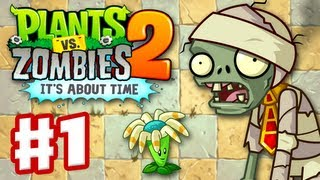 Plants vs. Zombies 2: It's About Time - Gameplay Walkthrough Part 1 - Ancient Egypt (iOS) thumbnail